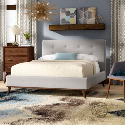 Wadlington Upholstered Platform Bed Size: King, Color: Grayish Beige