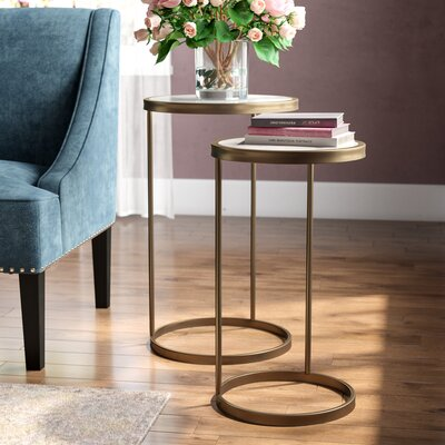 Claybrooks Nesting Tables Color: Gold