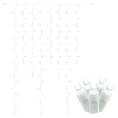 Wide Angle Curtain 100 Light Icicle Lighting Color: Pure White 04B0B0A7AF5E40928F0A7C77C30382CC