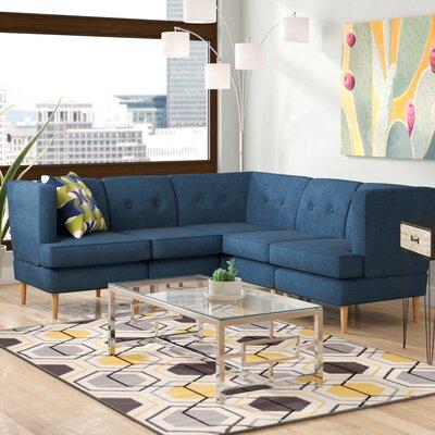 Cassady Modular Sectional Upholstery: Navy Blue