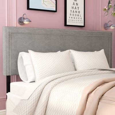 Eyre Upholstered Wood Panel Headboard Size: King, Upholstery: Light Gray