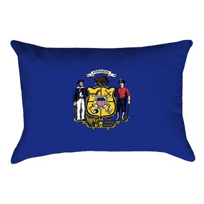 Katelyn Smith Wisconsin Flag Pillow Fabric: Linen, Product Type: Pillow Cover