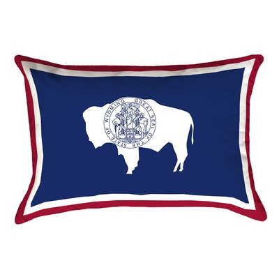 Katelyn Smith Wyoming Flag Pillow Product Type: Pillow Cover, Fabric: Spun Polyester/double Sided