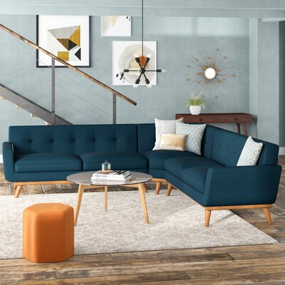 Johnston Sectional Upholstery: Azure