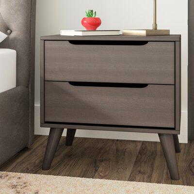 Mason 2 Drawer Nightstand Color: Gray