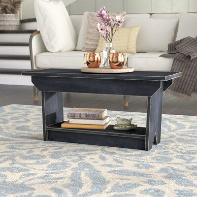 Irving Coffee Table/Bench Color: Old Black