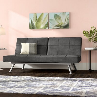 Begley Convertible Sofa Upholstery: Black