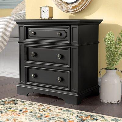 Linda 3 Drawer Bachelor's Chest Color: Black