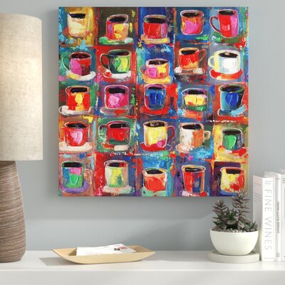Abstract Art 'Cups' Acrylic Painting Print on Canvas 3134664D7C2A4654A43754A39D866F14
