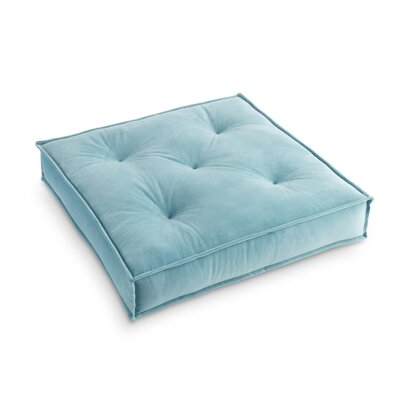 Asaad Pad Floor Pillow Pillow Cover Color: Teal