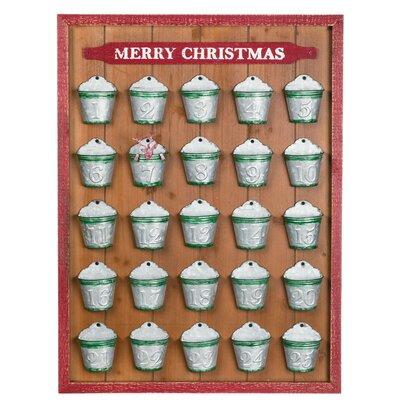 Advent Calendar Bucket Wall Decor