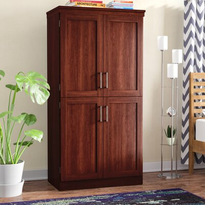 Caines Rustic Wardrobe Armoire Color: Royal Cherry