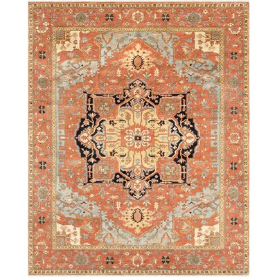 Serapi Hand-Knotted Wool Rust Area Rug HRZ-638 8x10