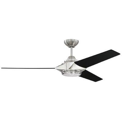 """54"""" Bhalekar 3 Blade LED Ceiling Fan with Remote 72673F9F24A945B087D8C887F85948FC"""