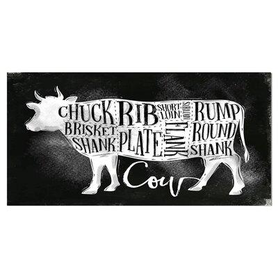 "Farmhouse 'Beef Cutting Scheme Chalk' Textual Art on Wrapped Canvas Size: 16"" H x 32"" W x 1"" D B6C6F3960E914D11B4FB0DBE3540BCE1"