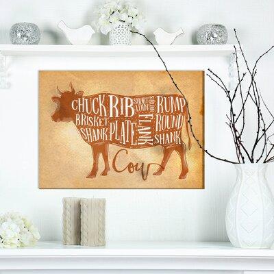 "Farmhouse 'Beef Cutting Scheme Craft' Textual Art on Wrapped Canvas Size: 12"" H x 20"" W x 1"" D 55AE1924B1A24F948D66A3ACBA406783"