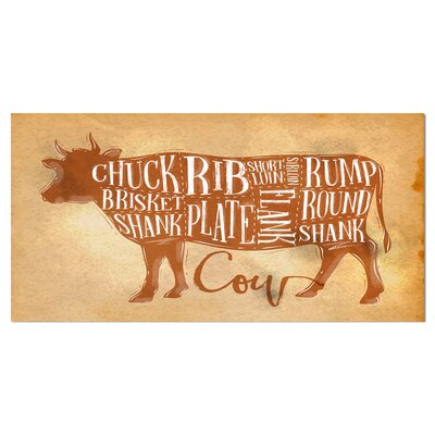 "Farmhouse 'Beef Cutting Scheme Craft' Textual Art on Wrapped Canvas Size: 16"" H x 32"" W x 1"" D 0C1915B4CCF443E7854D12049FA34C54"