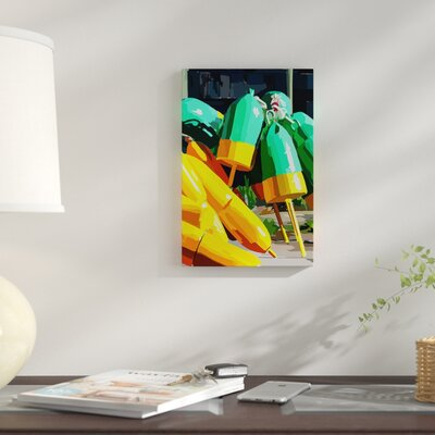 'Vibrant Buoys I' Print on Canvas 5940FDA9EA424367867000DB2CFE6CEB