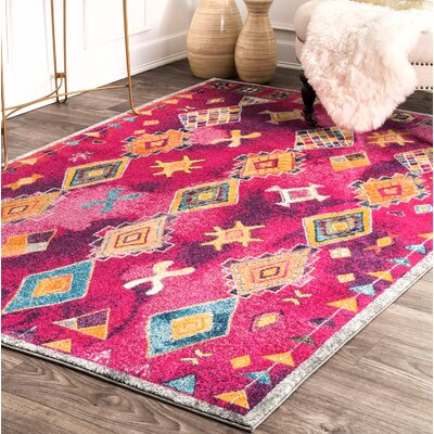 Pesina Purple Area Rug Rug Size: Rectangle 5 x 75