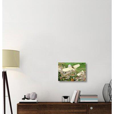 ''Rome to Paris by Air Non-Stop' Print on Wrapped Canvas EABB8890A8C74A0EABB66ABE9F536A87