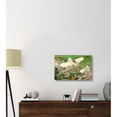 ''Rome to Paris by Air Non-Stop' Print on Wrapped Canvas A94D78479B5346C489E9DECB5E95F3E5