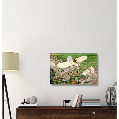 ''Rome to Paris by Air Non-Stop' Print on Wrapped Canvas 27A63A5C9DEE4F179C82F64081FA1626