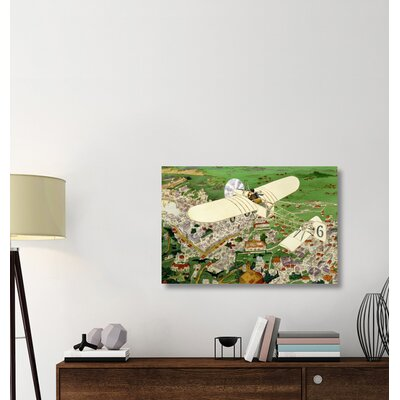 ''Rome to Paris by Air Non-Stop' Print on Wrapped Canvas 5133B22A765542A3B7397FF14AEA454A
