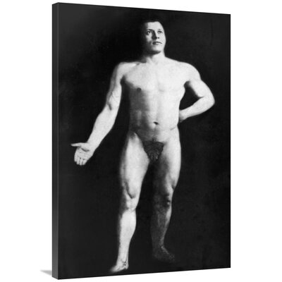 'Nude Bodybuilder' Photographic Print on Wrapped Canvas F621E5E36F2C45D199344BD87DDEBCD9