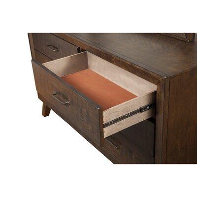 Easterly Rubberwood Storage 6 Drawer Double Dresser A4003A29D9D44492B24C1540D9D33471