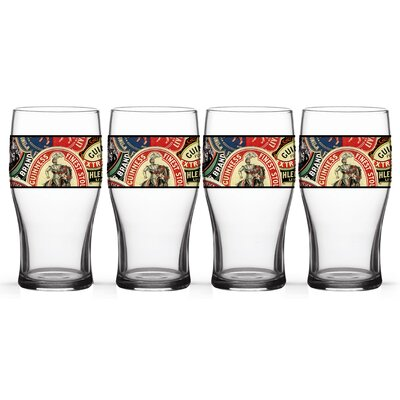 Guinness Collage Tulip 20 oz. Glass Pint Glasses CP84GUI