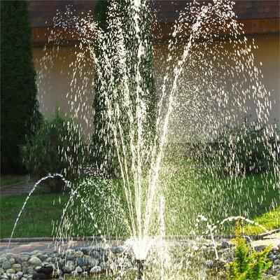 Solarbetriebener Teichbrunnen Wasserwerk mit Licht | Garten > Brunnen | Black | Klarstein