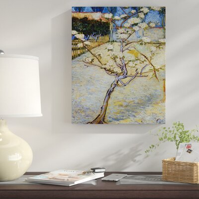 'Pear Tree in Blossom' by Vincent Van Gogh Oil Painting Print on Wrapped Canvas RDBT3115 41441598
