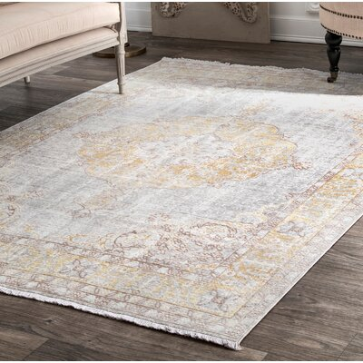 "Ferndale Gray Area Rug Rug Size: Rectangle 4'3"" x 6'6"" BE64F464F28444D7B90F24F0FC8D84E1"
