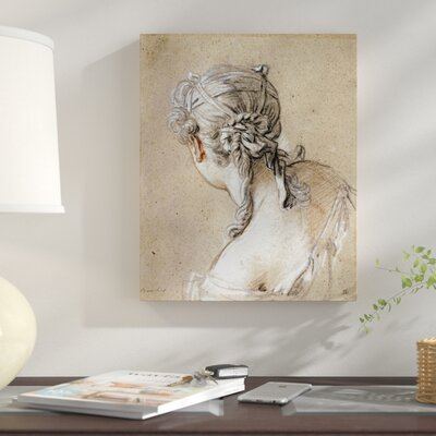 'Head of a Woman Seen from Behind' Graphic Art Print on Canvas CA642CC34851412B8DC0B52366B49793