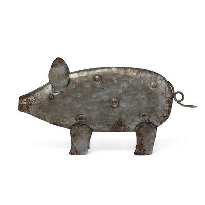 Brett Perfect Depiction Galvanized Sheet Pig Figurine 5F84CB71344342BABCA41277839547F6