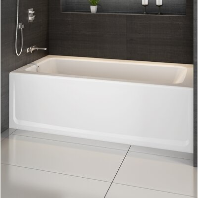 "Signature® 60"" x 36"" Alcove Bathtub Finish: Oyster, Drain Location: Left, Additional Features: Soaking Bathtub"