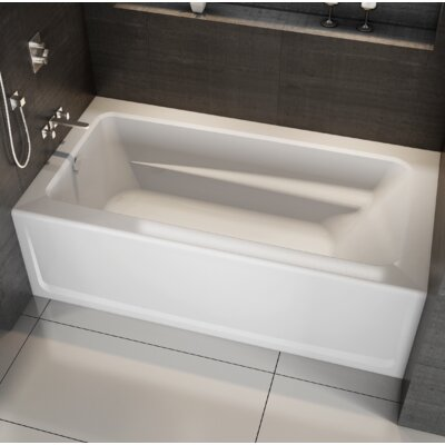 "Signature® 60"" x 36"" Alcove Bathtub Finish: Oyster, Drain Location: Right, Additional Features: Whirpool Bathtub"
