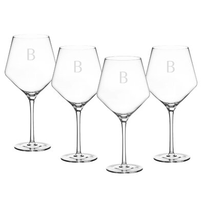 Cadencia Personalized Glass 23 oz. Red Wine Glass Letter: B