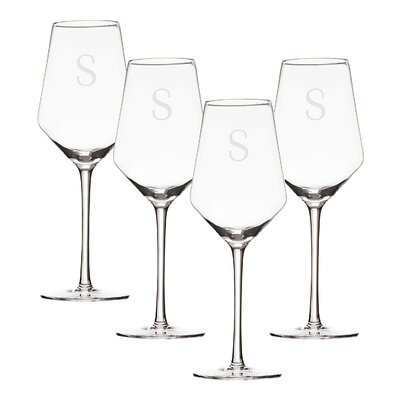 Leavens Personalized Glass 14 oz. White Wine Glass Letter: S