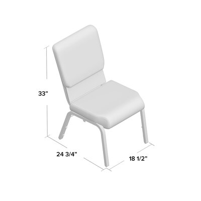 Jackston Stacking Guest Arm Chair Frame Finish: Silver, Seat Finish: Black ZPCD1745 39215812