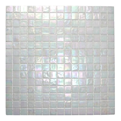 "Oyster 0.8"" X 0.8"" Glass Mosaic Tile In White"