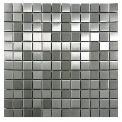 "1"" X 1"" Stainless Steel Mosaic Tile In Silver"