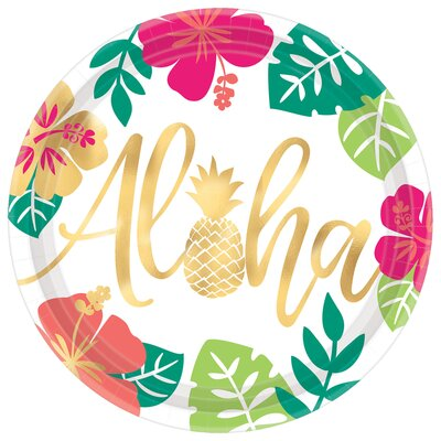 Summer Luau You Had Me At Aloha Paper Plate 591953