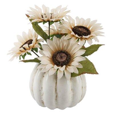 Sunflower Floral Arrangement in Pumpkin Pot