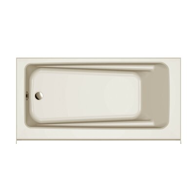 "Signature® 60"" x 30"" Alcove Bathtub Finish: Oyster, Drain Location: Right, Additional Features: Skirted Whirlpool Bathtub"