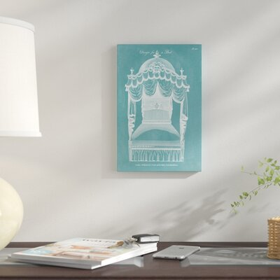 'Design for A Bed III' Graphic Art Print on Canvas 2F39F36CC82440A48962A9F4D485185F