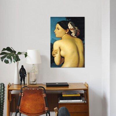 'Female Nude Bather Baigneuse, 1807' Print on Canvas 705CA1E1AA3242AE92C7D786564A6C04