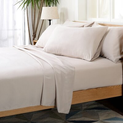 Luxurious Microfiber Sheet Set Color: Light Sand, Size: Full