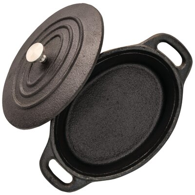 """Mini Cast-Iron Cocotte 5.3"""" Specialty Pan with Lid SRFT062143"""