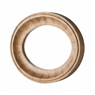 Lucia Oval Mango Wood Accent Mirror